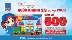 PVOIL giảm giá bán lẻ xăng dầu mừng Quốc khánh 2/9