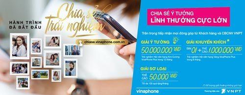 Treo giải 50 triệu đồng cho ý tưởng sáng tạo VinaPhone