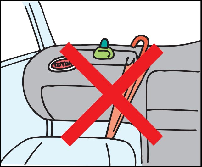 Vị trí cần tránh khi trang trí đồ chơi trên ô tô