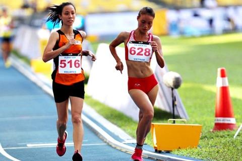 VĐV Malaysia chạy về đích ở môn đi bộ, Việt Nam mất HCV