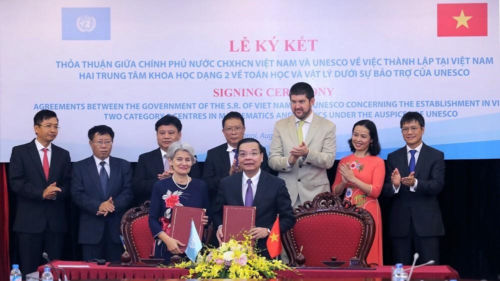 Thành lập trung tâm dạng 2 về toán học và vật lí của UNESCO tại Việt Nam