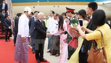 Tổng bí thư bắt đầu thăm cấp nhà nước Myanmar