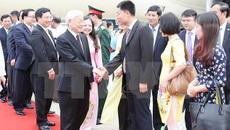 Lễ đón chính thức Tổng bí thư tại thủ đô Naypyidaw