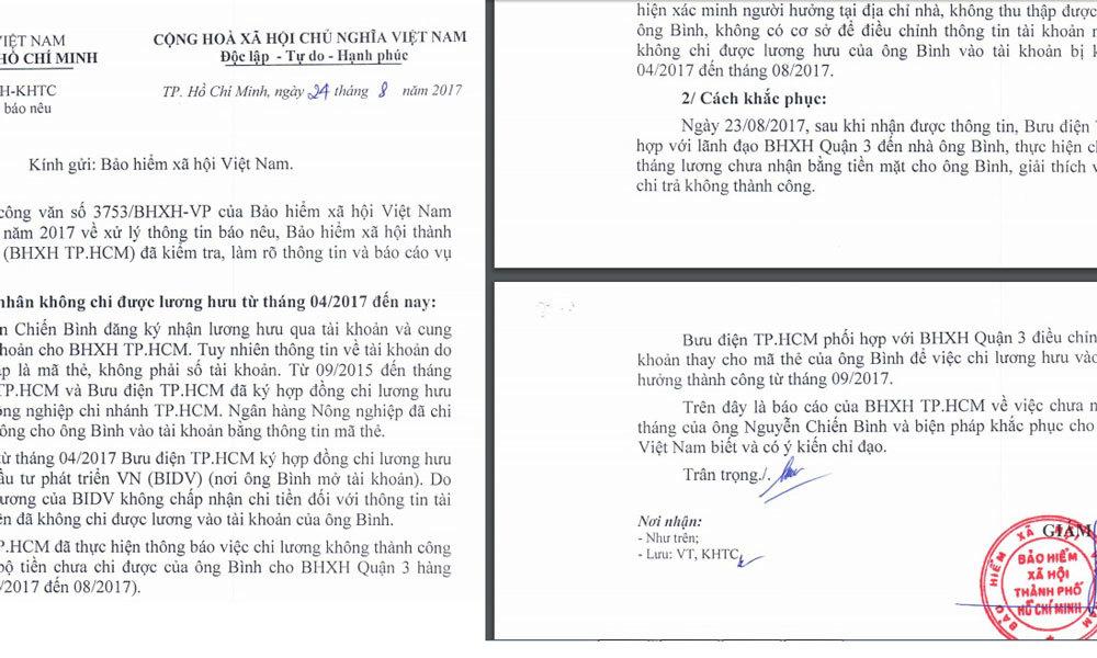 bảo hiểm xã hội,Nguyễn Chiến Bình,Thanh tra Chính phủ,TP.HCM,lương hưu