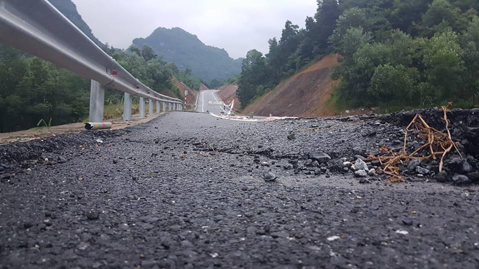 Tuyến BOT Thái Nguyên-Chợ Mới vừa thử nghiệm thu phí đã xuống cấp