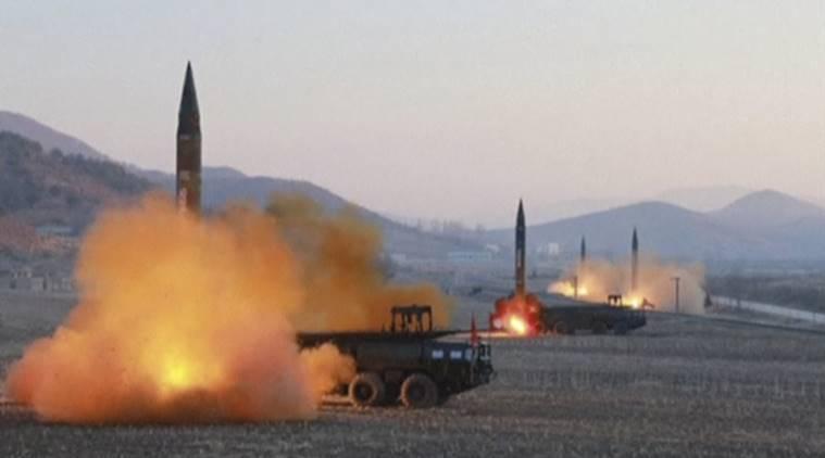 Triều Tiên phóng một loạt tên lửa
