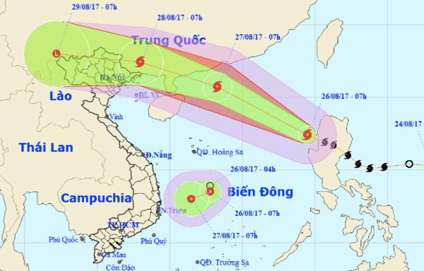 Bão số 7 di chuyển thần tốc, xuất hiện thêm áp thấp nhiệt đới