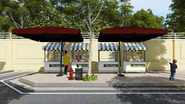 Miễn phí cho người nghèo kinh doanh phố hàng rong ở Sài Gòn