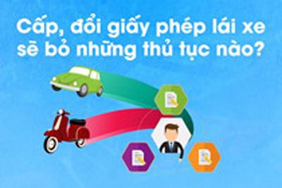 Thủ tục nào bị bãi bỏ khi đổi, cấp mới giấy phép lái xe?