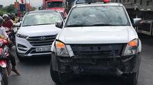 Lái xe 'điên' 3 lần chống lệnh CSGT, đâm hỏng xe chuyên dụng