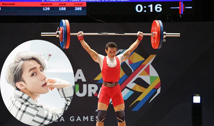 Sơn Tùng M-TP, Thạch Kim Tuấn, kết quả SEA Games, Cử tạ