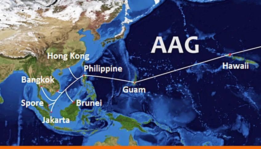 Ba tuyến cáp quang biển AAG, IA và SMW3 cùng gặp sự cố