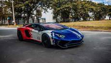 Minh Nhựa lái Lamborghini Aventador SV giá 35 tỷ dạo phố