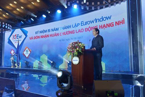 Eurowindow nhận Huân chương Lao động hạng Nhì