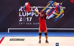Video Trịnh Văn Vinh phá kỷ lục SEA Games, giành HCV cử tạ
