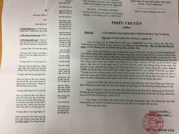 Truy thu 35 kỳ tiền nước công ty không cung cấp quy định, dân khiếu nại
