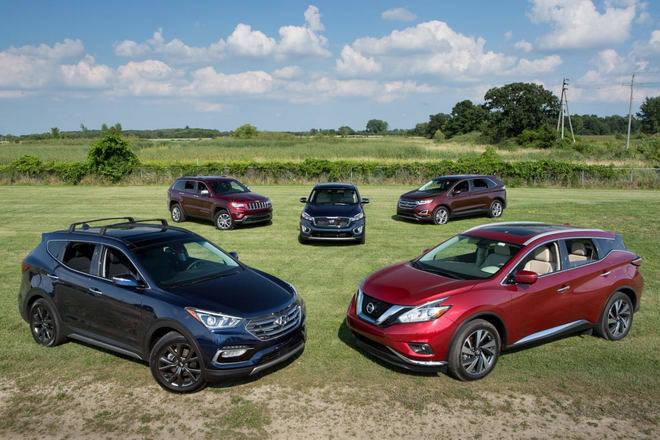Các loại SUV, crossover ngày càng áp đảo sedan