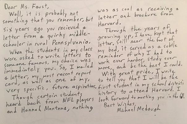 Nam sinh trúng tuyển Harvard sau 6 năm viết bức thư gửi hiệu trưởng