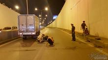 Nam thanh niên bị cuốn vào gầm xe tải,  tử vong trong hầm Kim Liên
