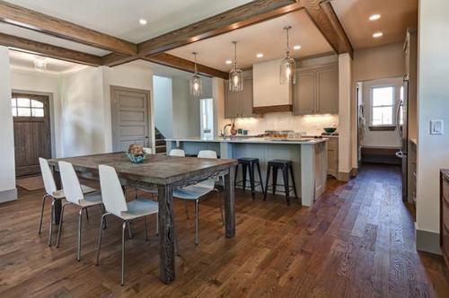 22 mẫu thiết kế phòng ăn tuyệt đẹp với sàn gỗ