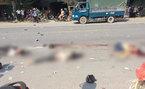 2 cô gái cùng nam thanh niên kẹp 3 bị ô tô cán chết thảm