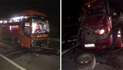 3 xe khách đâm nhau trên cao tốc, 10 người bị thương