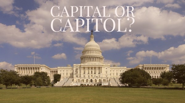 Phân biệt 'capital' và 'capitol'