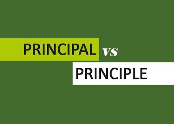 Phân biệt 'principal' và 'principle'