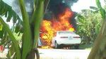 Camry đang chạy bất ngờ bốc cháy, 4 người thoát chết
