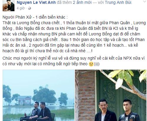 Diễn viên Việt Anh để lộ kịch bản phần 2 'Người phán xử'?