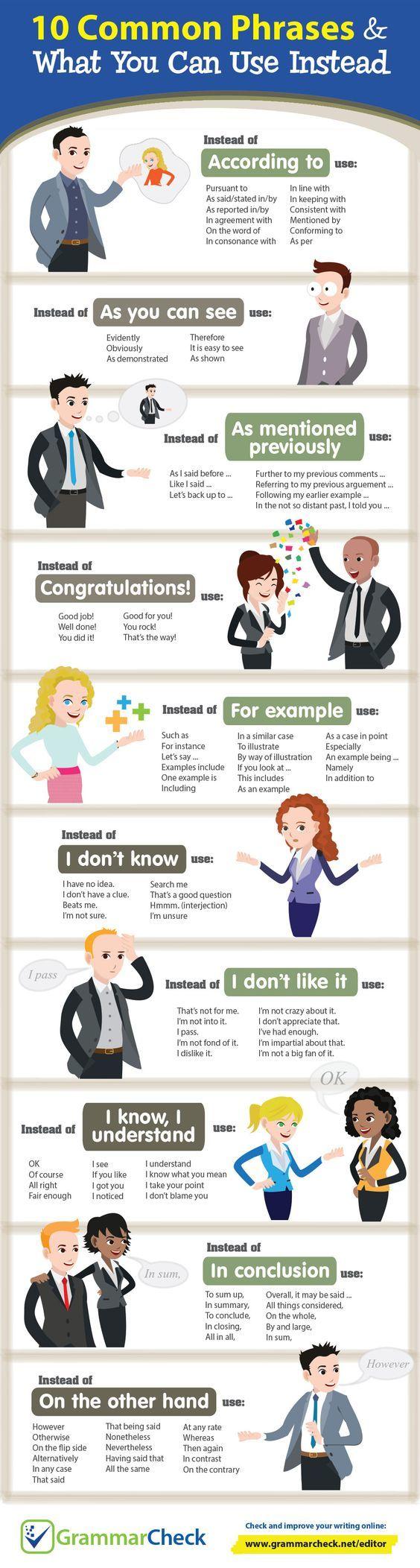 Cách diễn đạt thay thế cho 10 câu nói phổ biến trong tiếng Anh