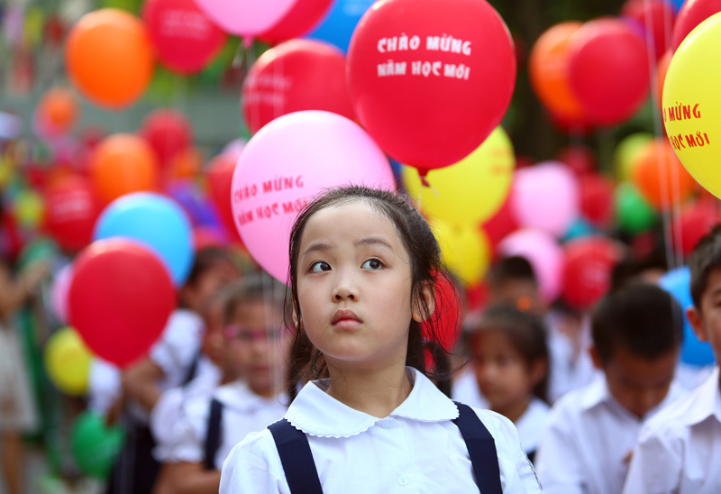 Chủ tịch nước Trần Đại Quang dự lễ khai giảng ở Trường Trưng Vương