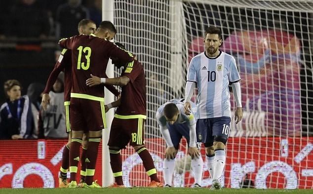 Messi, Argentina, World Cup 2018, Venezuela, kết quả bóng đá
