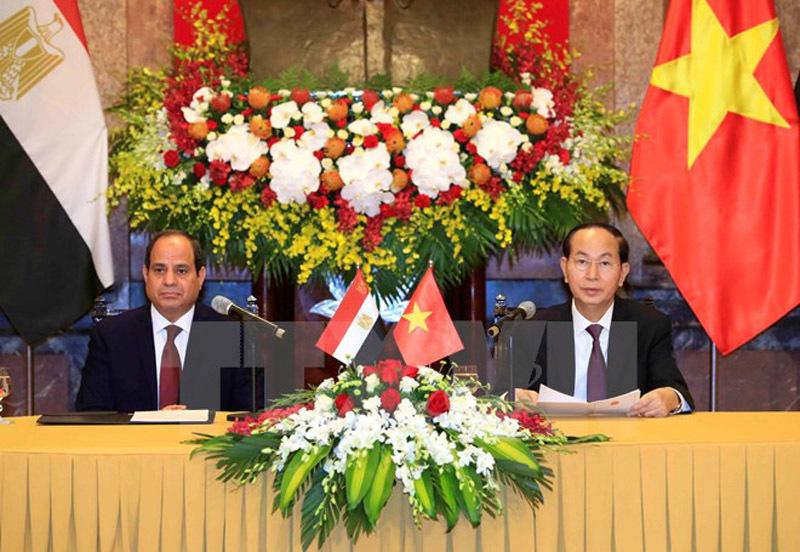 Chủ tịch nước hội đàm với Tổng thống Ai Cập