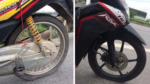 Hàng loạt xe máy dính đinh tặc trên cao tốc Hà Nội - Bắc Giang