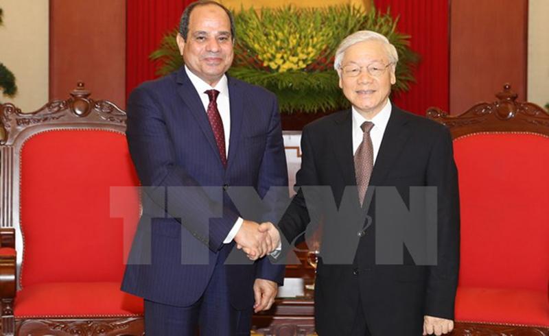 Tổng bí thư tiếp Tổng thống Ai Cập