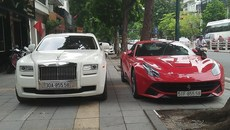 Đại gia Hà Nội 'show hàng' Rolls-Royce và Ferrari 40 tỷ