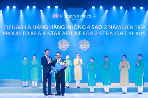Vietnam Airlines khẳng định vị thế hãng hàng không 4 sao