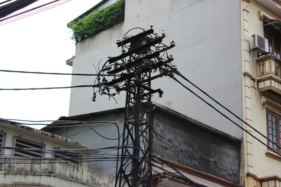 cột điện,EVN Hà Nội,truyền tải điện,thời Pháp