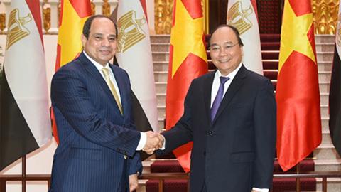 Thủ tướng tiếp Tổng thống Ai Cập