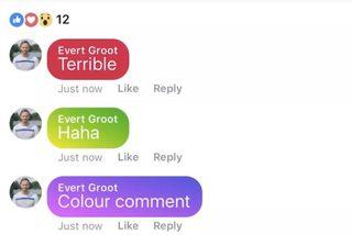 Facebook thử nghiệm bình luận bảy sắc cầu vồng