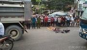 Nữ sinh lớp 8 chạy xe đạp điện bị xe tải cán tử vong