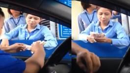 Trả tiền lẻ qua trạm QL5: Công an làm việc với nữ tài xế xinh đẹp
