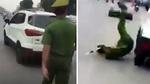 Hà Nội: Lái xe tông ngã công an rồi bỏ chạy