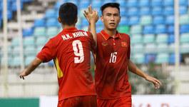 Trút mưa bàn thắng, U18 Việt Nam lên nhất bảng