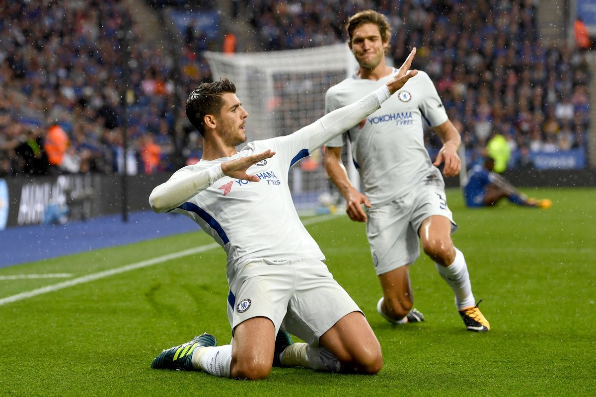 Morata ngạo nghễ, Chelsea bắn hạ Leicester