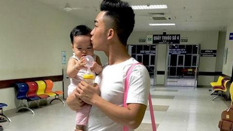 Diễn viên Đỗ Duy Nam lo lắng vì con gái bị co giật