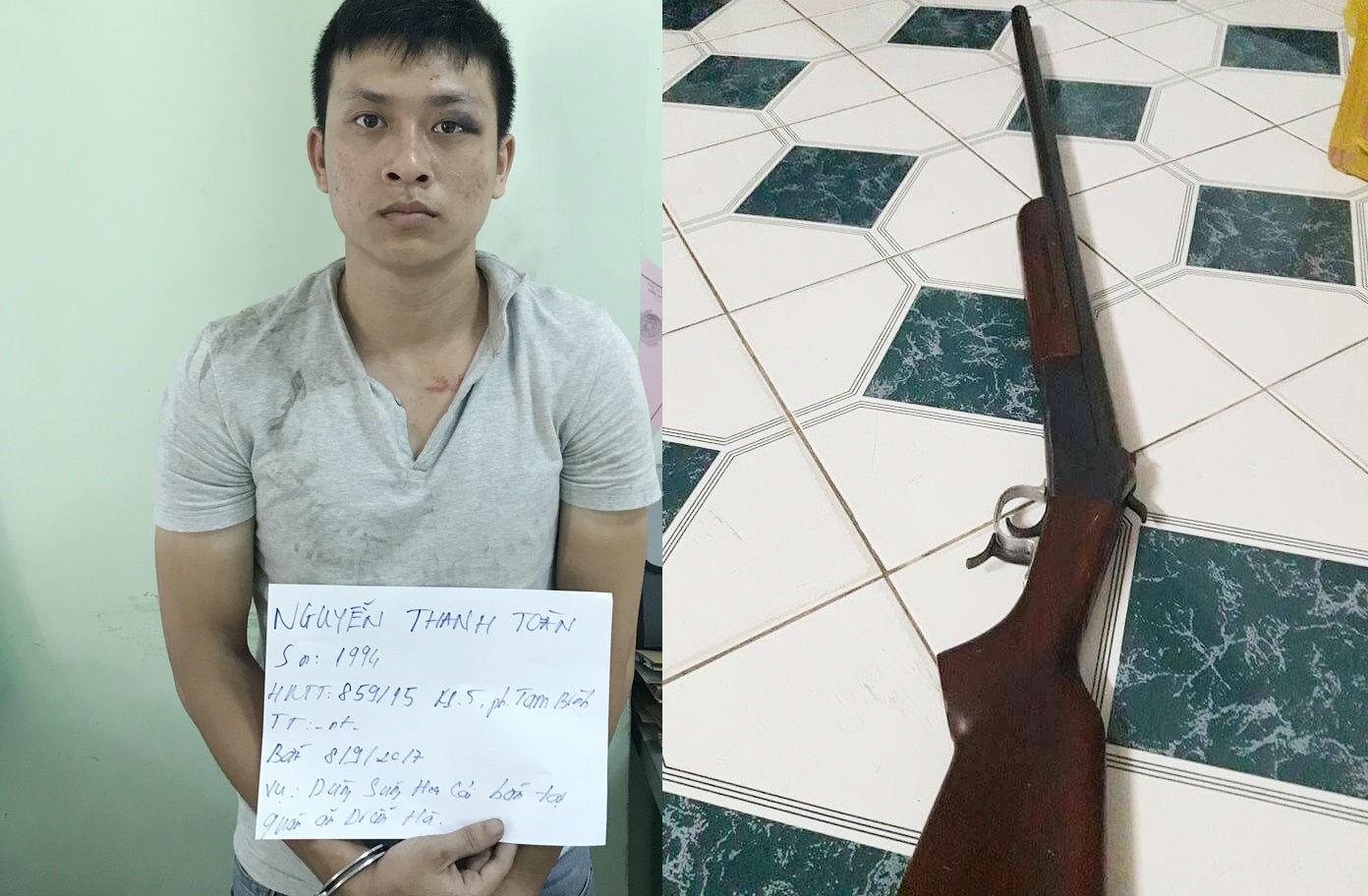 Cảnh sát cải trang bắt kẻ bắn 2 người trọng thương