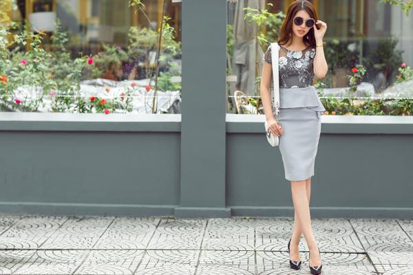 Hoa hậu 'hội con nhà giàu' gợi ý mặc đồ Thu sang chảnh
