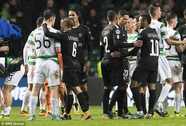 Neymar,PSG,Celtic,Champions League